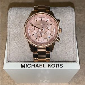 Women's Gold Micheal Kors watch